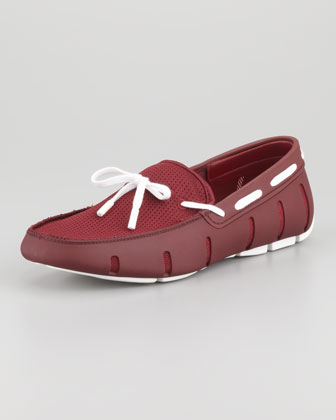Rubber Slip-On, Burgundy/White