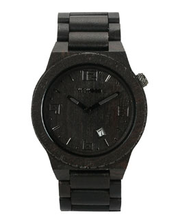 WeWood Watches Voyage Blackwood Watch, Black