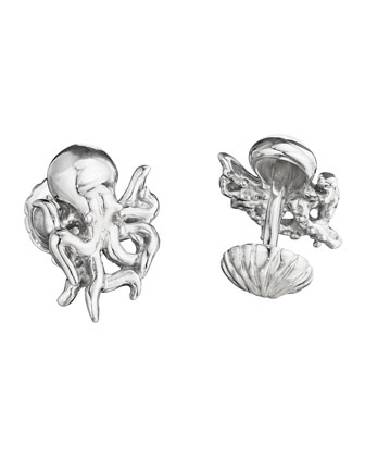 Octopus & Sea Shell Cuff Links