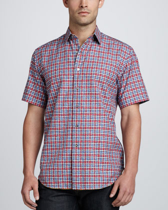 Kick-Flip Short-Sleeve Shirt, Red