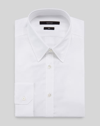 Diamante Dress Shirt, White