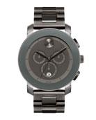 43.5mm Bold Chronograph Watch, Gray