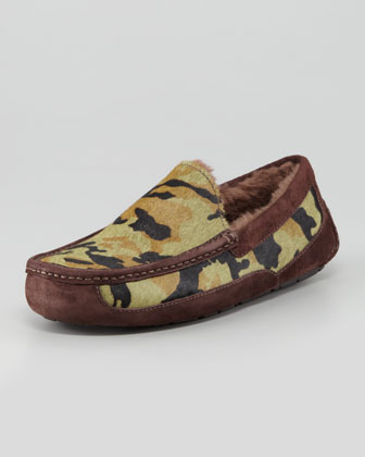 Camo Ascot Slipper, Green