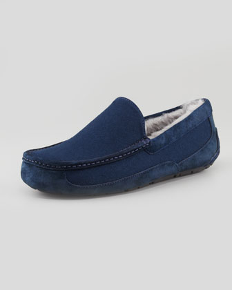 Navy Ascot Flannel Slipper