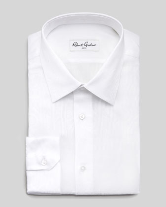 Alex Jacquard Dress Shirt, White