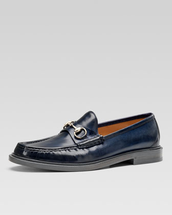 Legend Leather Horsebit Loafer, Navy