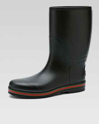 Brest Rubber Rain Boot, Black