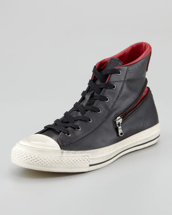 All-Star Zipper Hi-Top, Black/Red