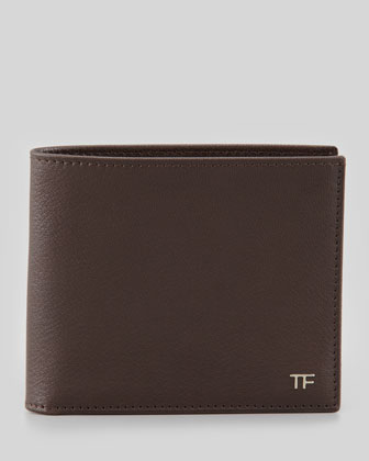 TF Leather Wallet, Brown