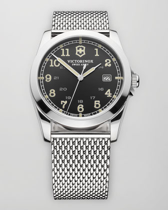 Infantry Mesh Strap Watch, Gray