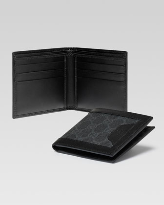 GG Supreme Canvas Bi-Fold Wallet