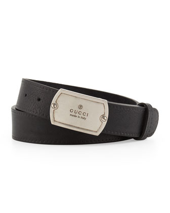 Adjustable Plaque Belt, Black