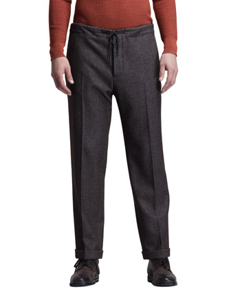 Drawstring Pants, Prune
