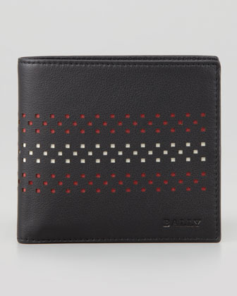 Vollen Perforated Bi-Fold Wallet