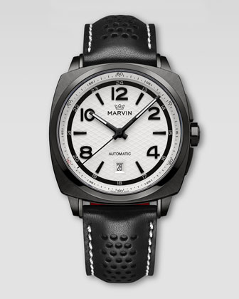 Malton 160 Watch, Black/White