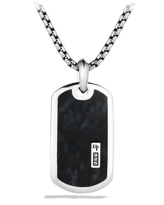 Exotic Stone Tag with Pietersite on Chain