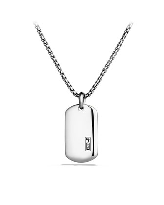 Tag in Sterling Silver