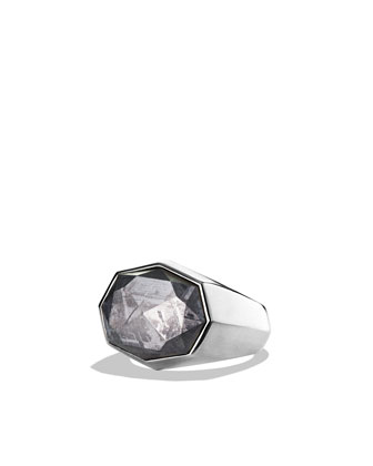 Signet Ring with Meteorite