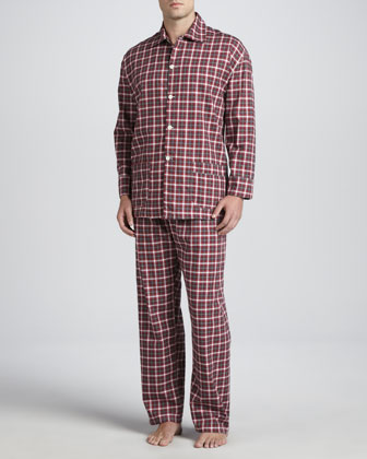 Men's Long-Sleeve Pajama Set, Red