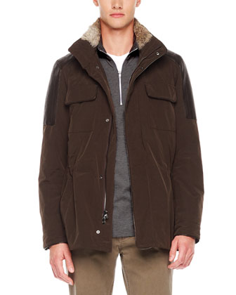 Fur-Trim Utility Jacket
