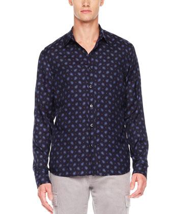 Foulard-Print Shirt