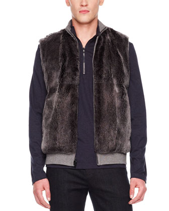 Reversible Fur/Knit Vest