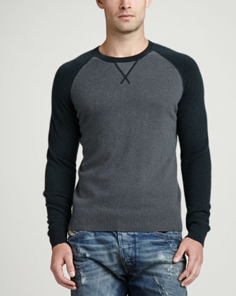Raglan Crewneck Sweater, Green