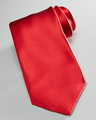 Solid Silk Tie, Red