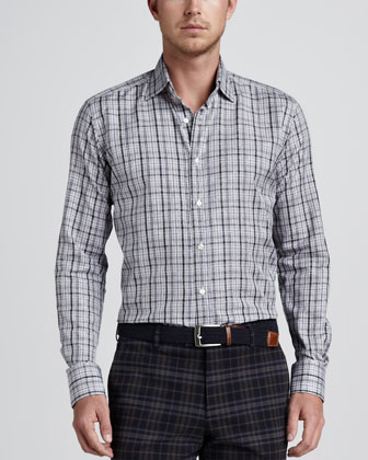Plaid/Paisley Sport Shirt