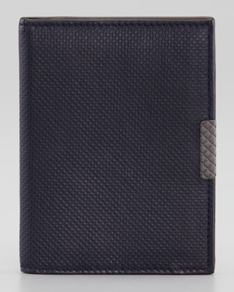 Micro Polo Bi-Fold Card Case, Blue