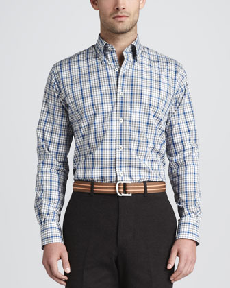 Plaid Sport-Shirt, Chocolate