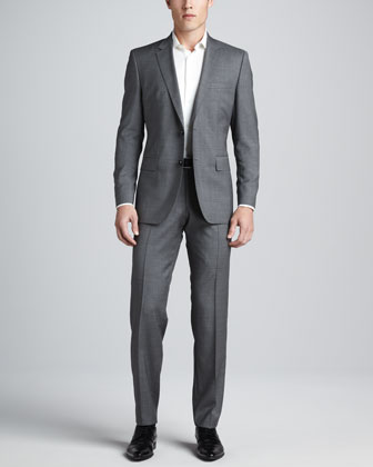 Hour/Sharp Two-Piece Suit, Light Gray