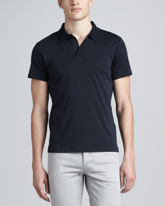 Short-Sleeve Jersey Polo & Five-Pocket Twill Pants
