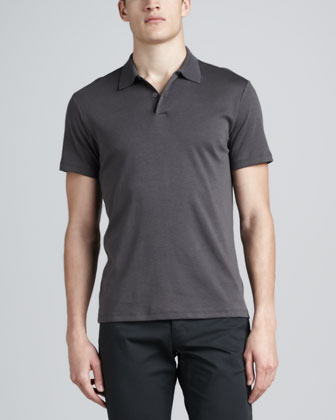 Short-Sleeve Polo & Slim Twill Pants