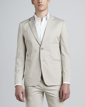 Suit Jacket, Stretch-Cotton Shirt & Straight-Leg Pants