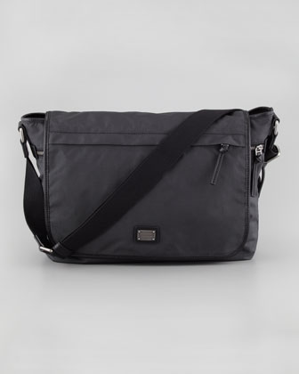Hank Men's Nylon Flap Messenger Bag