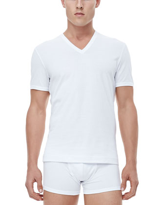 Carretto V-Neck Tee, White