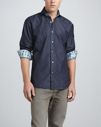 Ronny Long-Sleeve Shirt, Navy