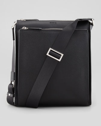 Elite Men's Small Messenger Bag, Black