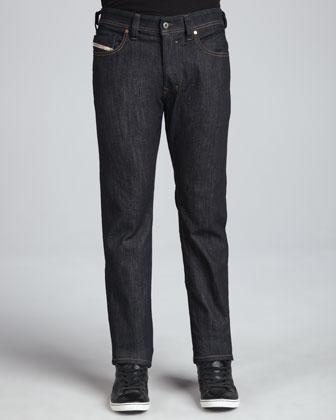 Safado Straight Jeans, Dark Raw Indigo