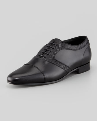 Derby Lizard Lace-Up, Black