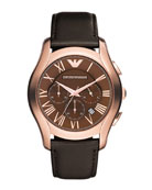 Classic Chronograph Watch, Rose Gold