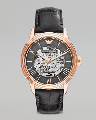 Mechanical Watch, Gray/Rose