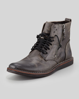 Barret Side-Zip Boot, Dark Gray