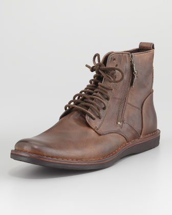 Barret Lace-Up Side-Zip Boot