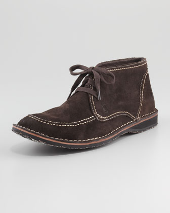 Hipster Suede Work Boot, Brown