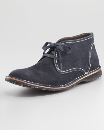Hipster Suede Chukka Boot, Navy