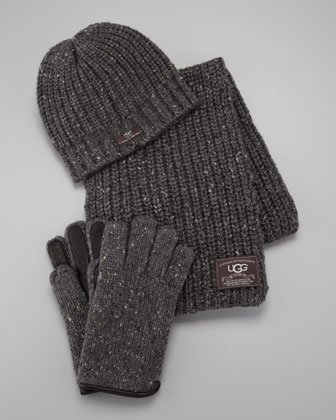 Hat, Scarf & Gloves Box Set, Gray