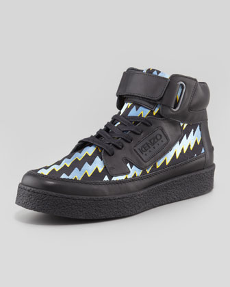 Kenyon Laser-Print High-Top Sneaker