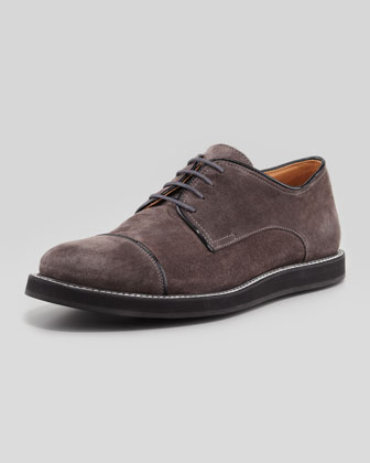 Clif Suede Cap-Toe Lace-Up
